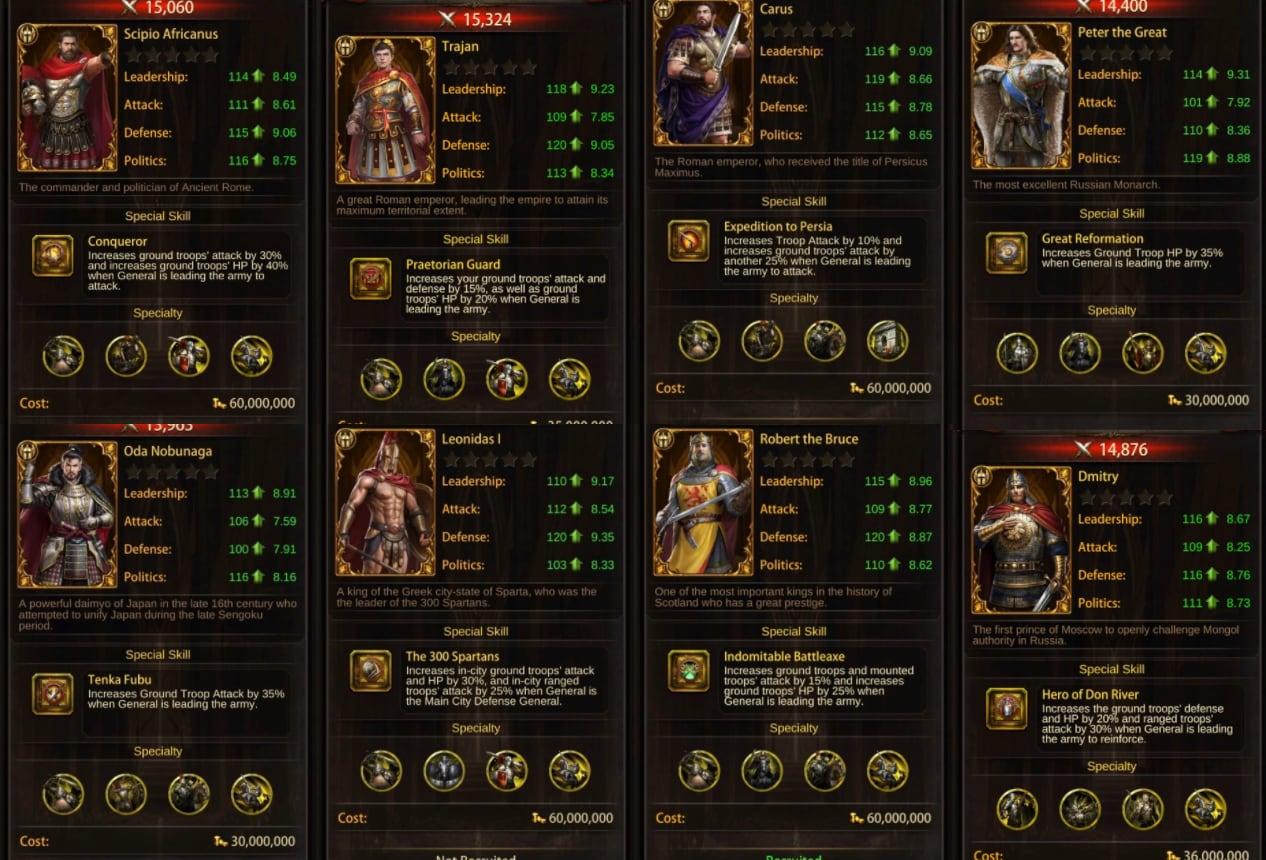Image of evony guide: best ground generals