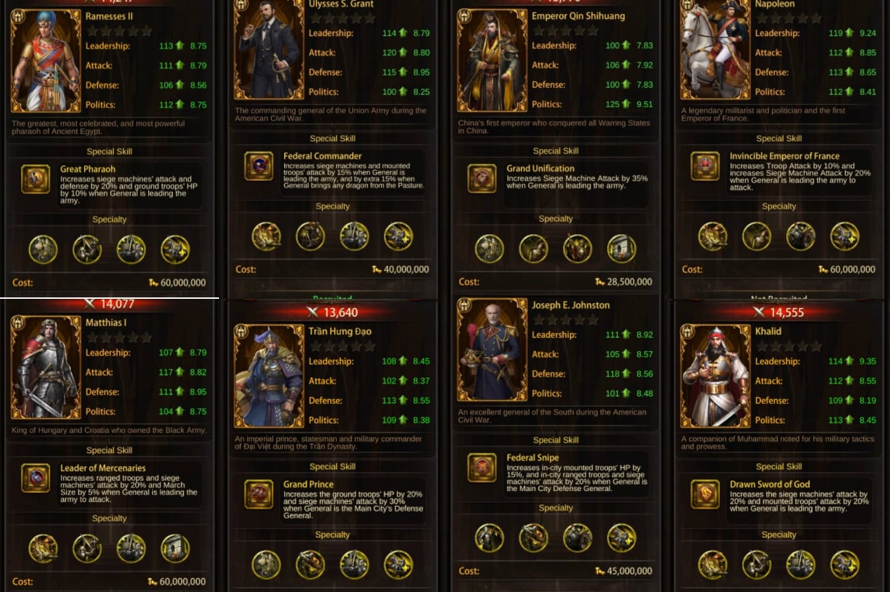 Image of evony guide: best siege generals